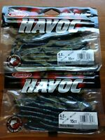 "Lot of 30 ct Berkley 4.5"" Havoc Junebug Money Makers"