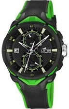 Lotus 18107/7 Stainless Steel Back  Black and Green  Ruber Chronograph  Watch