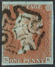 1841 1d Red-Brown Pl 31 NK 4m Fine MX Large Margins Fine Used Cat. £60.00