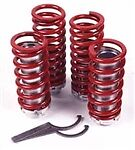J ADJ-FOR-04 Adjustable Coilover Black Springs  1991-2006 FORD ESCORT