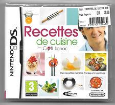 Recettes de cuisine avec Cyril Lignac Neuf sous blister jeu Nintendo DS