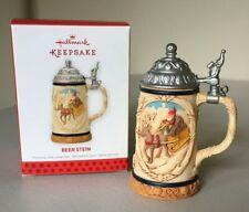Hallmark Keepsake Christmas Tree Ornament 2013 Beer Stein Santa Opens