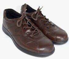 ECCO Oxfords Womens UK 40 US 9-9.5 Brown Leather Walking Sneaker Athletic Shoe