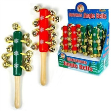 Wooden Christmas Jingle Stick children's musical instrument assorted colours