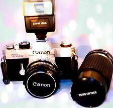 Magnificent 35mm Canon TLB camera with a Toyo Optics lens and 120 S flash set