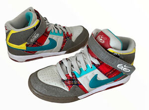Nike Air Mogan 6.0 UK5.5 EU39 Hi Top Trainer Shoe 407479 200 Tartan Rare (r5