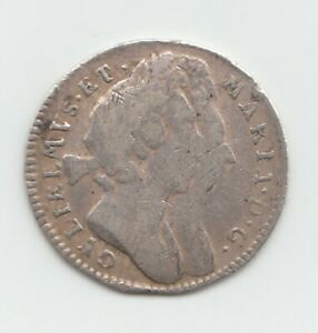 1694 Silver Threepence 3d - William & Mary