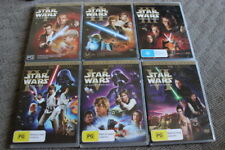 STAR WARS ORIGINAL & PREQUEL TRILOGY RARE DELETED OOP DVD - THEATRICAL VERSIONS