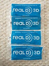 4 Adult Size Real D 3-D Glasses - For Use with 3D TVs