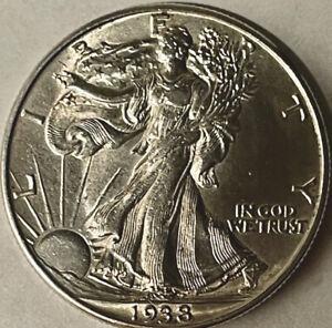 1938 Walking Liberty Half Dollar 50c  Brilliant Uncirculated Gem Uncertified