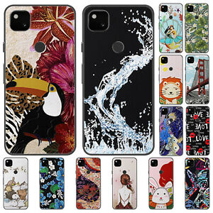 For Google Pixel 4A 4 3A 3 XL Case Retro Painted Slim Soft Silicone TPU Cover