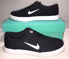 Nike SB Mens Size 7.5 Portmore Ultralight M Black White Street Casual Shoes