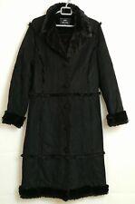 Marks & Spencer Per Una Ladies Black Faux Sheepskin Coat Size Medium