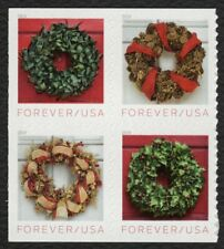 #5427a Holiday Wreaths, Se-Tenant Block, Mint ANY 4=