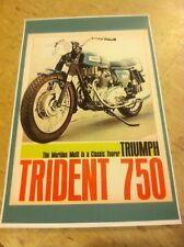 Vintage Triumph Trident T150 Motorcycle Ad Poster Home Decor Art