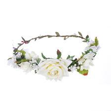 White Flower crown Hairband Wedding Garland Headband Festival Wreath Headdress