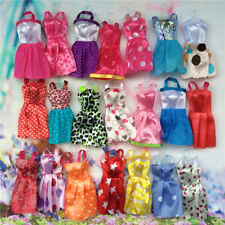 10pcs Barbie Doll Evening Party Dress Clothes Baby Kids Toys Dressing Up Random