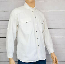 MUSTANG Genuine Mens Denim White Jeans Longsleeve Shirt White Size Large
