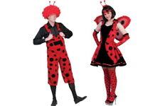 Marienkäfer Damen Herren Kostüm Käfer Kleid Käfer Latzhose Tierwelt Karneval NEU