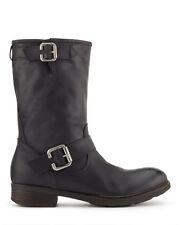 SOLD OUT: Jigsaw Marta Black Leather Biker Boots New w/Sticker IT40/UK7