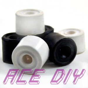 Rubber Door Stops Black or White Floor Mounted Wall Protector Stop Jam Stoppers