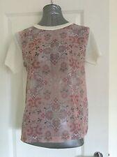 Dorothy Perkins Size 14 Blush Tile Woven Top