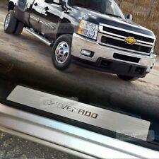 Hairline Metal Aluminum Door Sill Scuff Plate 4Pcs for CHEVROLET 14-16 Silverado