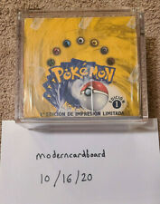 Pokemon Base Set Booster Box 1st ***FIRST EDITION*** Spanish Factory Sealed MINT