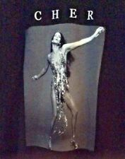 Cher T-Shirt Medium Black Graphic Short Sleeves Cotton Rare Authentic New