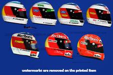 More details for michael schumacher ferrari f1 helmet sticker / display print - scuderia gp