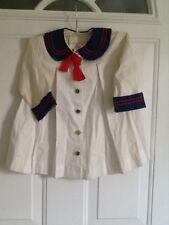 Vintage Baby Toddler Sailor  Dress or Coat Size 3x 1940's-1950's