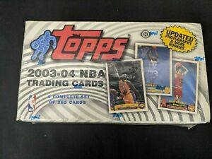 2003-04 TOPPS BASKETBALL FACTORY SEALED SET LEBRON RC LJ1