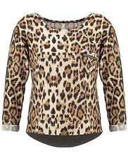 Polyester Animal Print Hand-wash Only Casual Tops & Blouses for Women