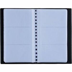 150 Porte Cartes de Visite Carte de Livre PVC Cartes pour Ranger Carte de