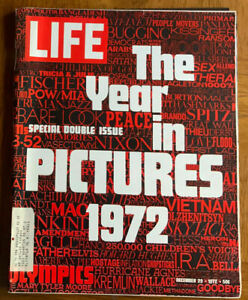 Vintage LIFE Magazine December 29, 1972  The Year In Pictures Issue Very Clean
