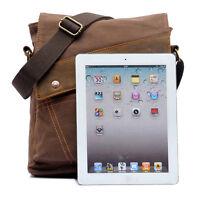 Men's Vintage Canvas Messenger Bag Casual Shoulder Bag Crossbody Satchel