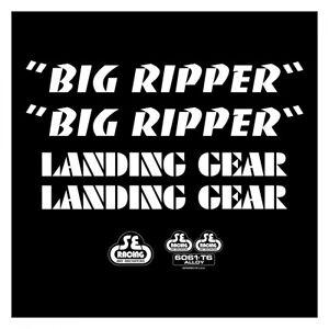 SE Racing BIG RIPPER frame & fork decal kit BLACK BMX  BIKE LIFE