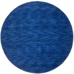 Blue Tribal Design Hand Loomed Round 6X6 Oriental Modern Rug Home Decor Carpet