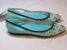 Crocs Womens Rio Leopard Fade Flat Pool standard W 8 W8 shoes croslite footbed