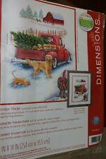 VTG Counted Cross Stitch Kit  Winter Ride 11 by 12  Complete