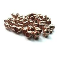 Brass Bell-Shape End Caps Rose Gold 5mm  30 Pcs Findings DIY Jewellery Making