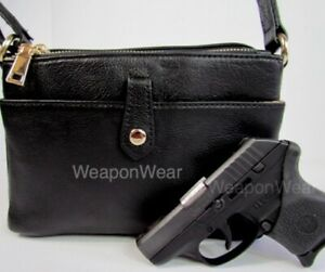Concealed Carry Concealment Gun Purse Small CCW Black Holster Cross Body