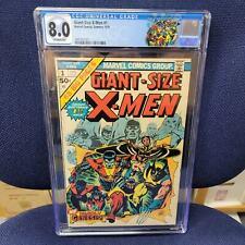Giant-Size X-Men 1 CGC 8.0! 1st app Storm, Nightcrawler, Colossus, Thunderbird!!