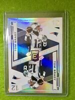 TOM BRADY JERSEY #12 REFRACTOR CARD PATRIOTS PRIZM 2019 Donruss Elite Deck #ED18