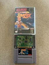 Authentic Star Fox - SNES Super Nintendo Game Starfox - Tested w/ Custom Case
