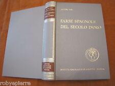 De Agostini 1971 Farse spagnole del secolo d'oro AA.VV. De Cervantes Avila LUSSO