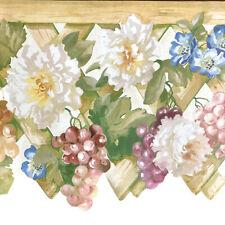 Tapetenbordüre Wandbordüre Laser Cut Blumen Trauben Garten Art.-Nr. GB9007-1B