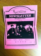 Queen Usa Royal Vision Fan Club Newsletter Spring 1991 Original 17 Pages