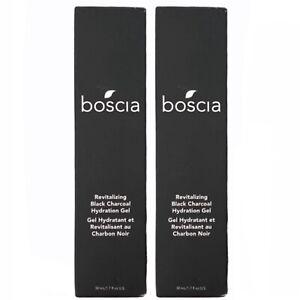 2x NEW Boscia Revitalizing Black Charcoal Hydration Gel 1.7 fl oz Exp. 2/2022