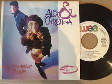 """1987 ALEX & CHRISTINA PROMO ESP 7"""" 45 - MIL CAMBIOS DE COLOR / YO QUIERO SER YO"""